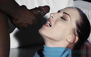 Down in the mouth cutie gets a bbc anal having it away