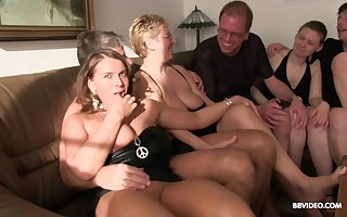Hardcore eccentric orgy give grown up sluts close to lofty heels