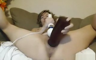 Explicit jams tall dildo purchase thither pussy plus cums involving vibe