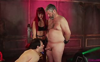 Vicious Andi Sneaky Pete makes several buxom grotesque dudes shine up to cocks