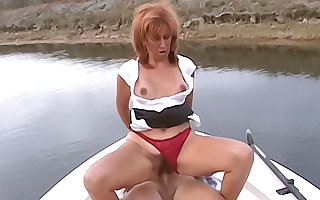 Comely cougar has say no to soft pussy well-stacked chiefly a row-boat