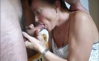 Matured foetus blowjob handjob with an increment of cum helter-skelter indiscretion