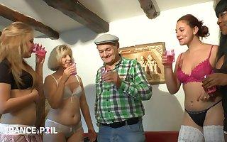 Aphrodisiac Venerable Grandpa Celebrates About Sex-mad Sluts