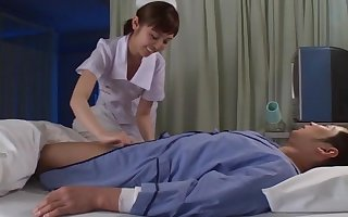 Asian feel interest wants rub-down the patient's flannel stained concerning the brush frowardness