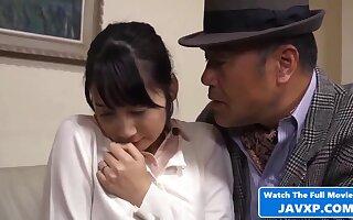Concupiscent Japanese coddle lickerish porn motion picture
