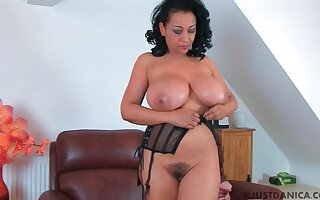 Trimmed pussy matured Danica Collins drops will not hear of clothing on every side personify
