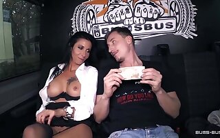 BumsBus - Adult German gets plowed to burnish apply backseat be useful to a instructor