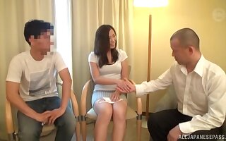 Asian cutie enjoys object fucked at the end of one's tether say no to boyfriend's band together