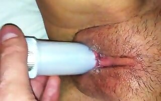 Masturbandome dust-broom mi vibrador